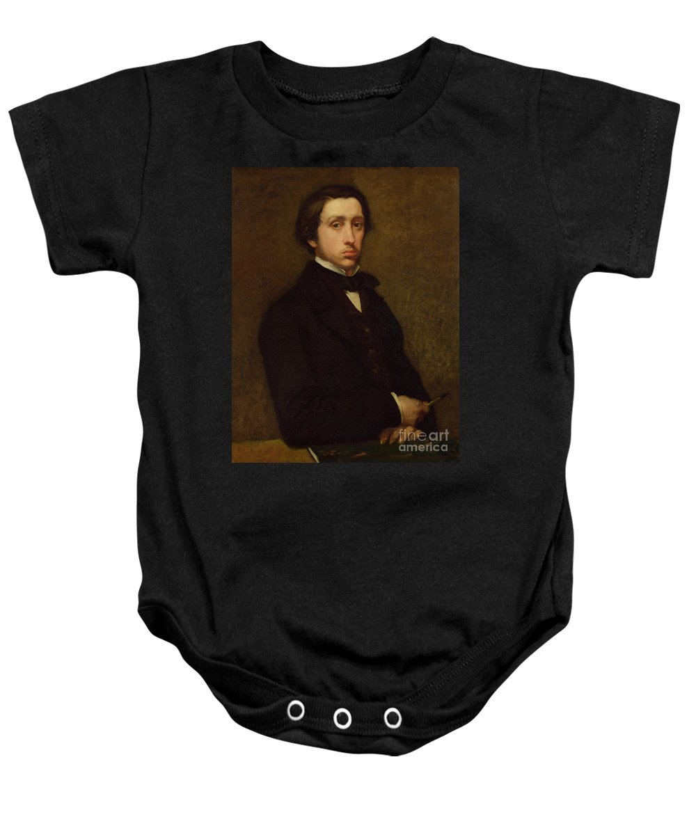 Self Portrait Baby Onesie featuring the painting Self Portrait by Edgar Degas