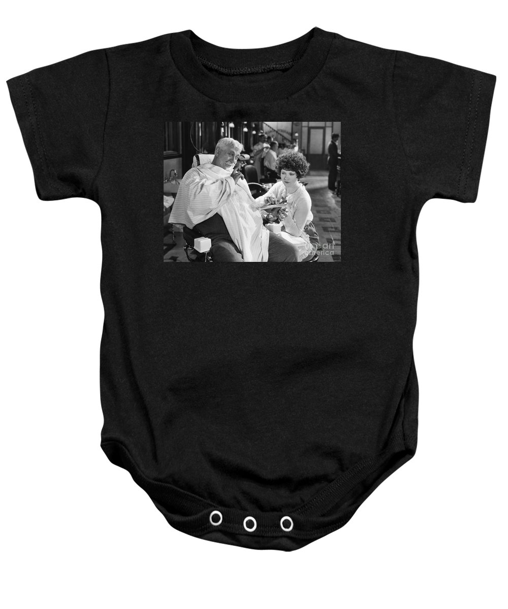 -barbers & Beatuy Salons- Baby Onesie featuring the photograph Silent Still: Beauty Salon by Granger