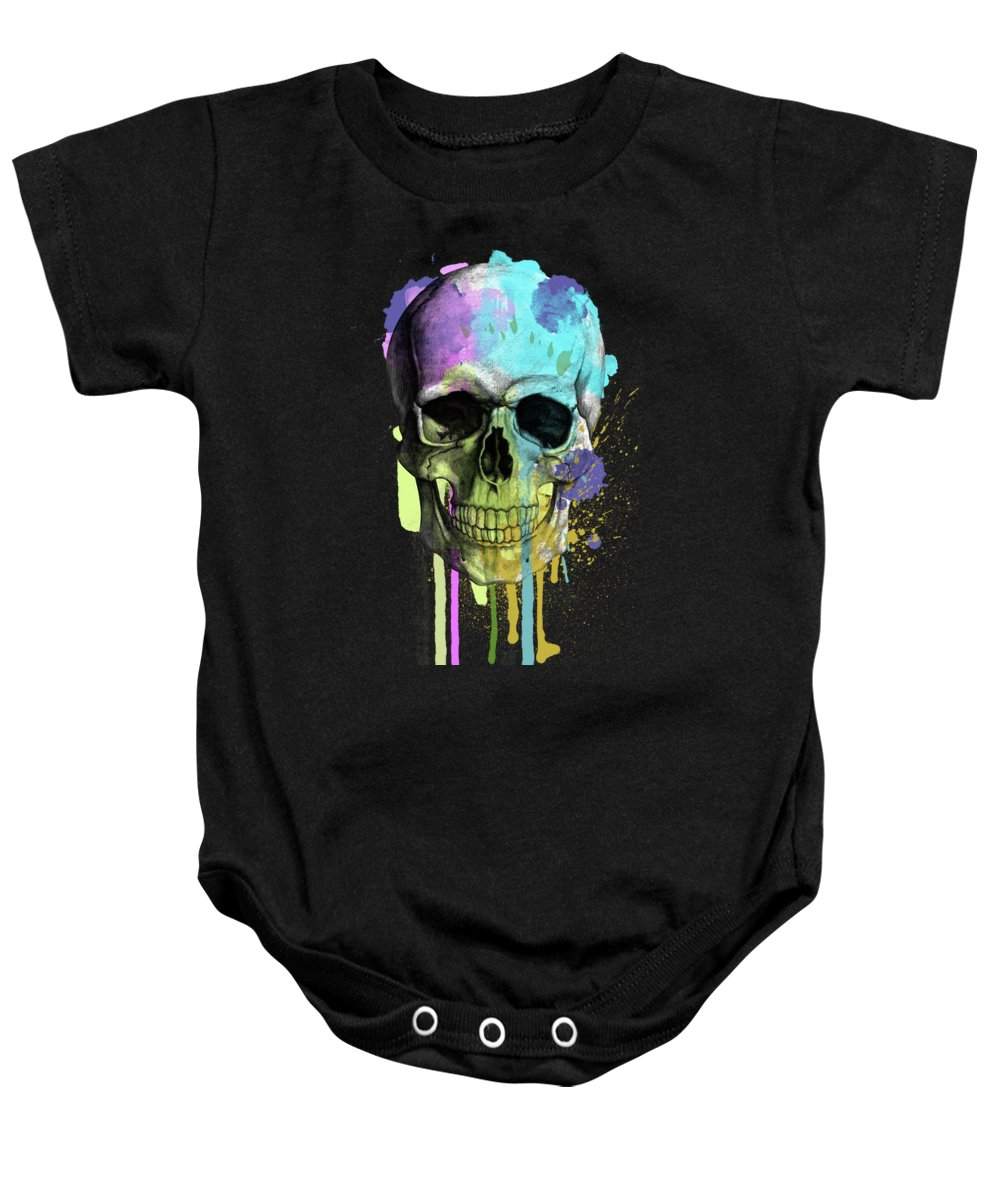 Pattern Baby Onesie featuring the painting Halloween by Mark Ashkenazi