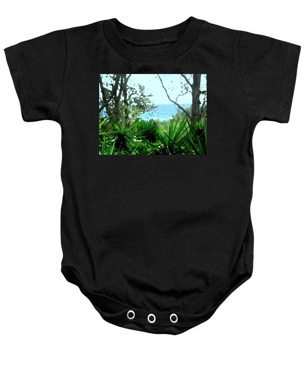 Bermuda Baby Onesie featuring the photograph South Shore Bermuda by Ian MacDonald