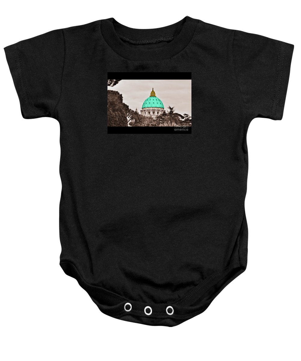 Saint Baby Onesie featuring the photograph St. Peters Basilica by Eric Liller