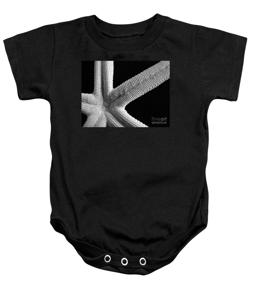 Mary Deal Baby Onesie featuring the photograph Starfish Underworld by Mary Deal