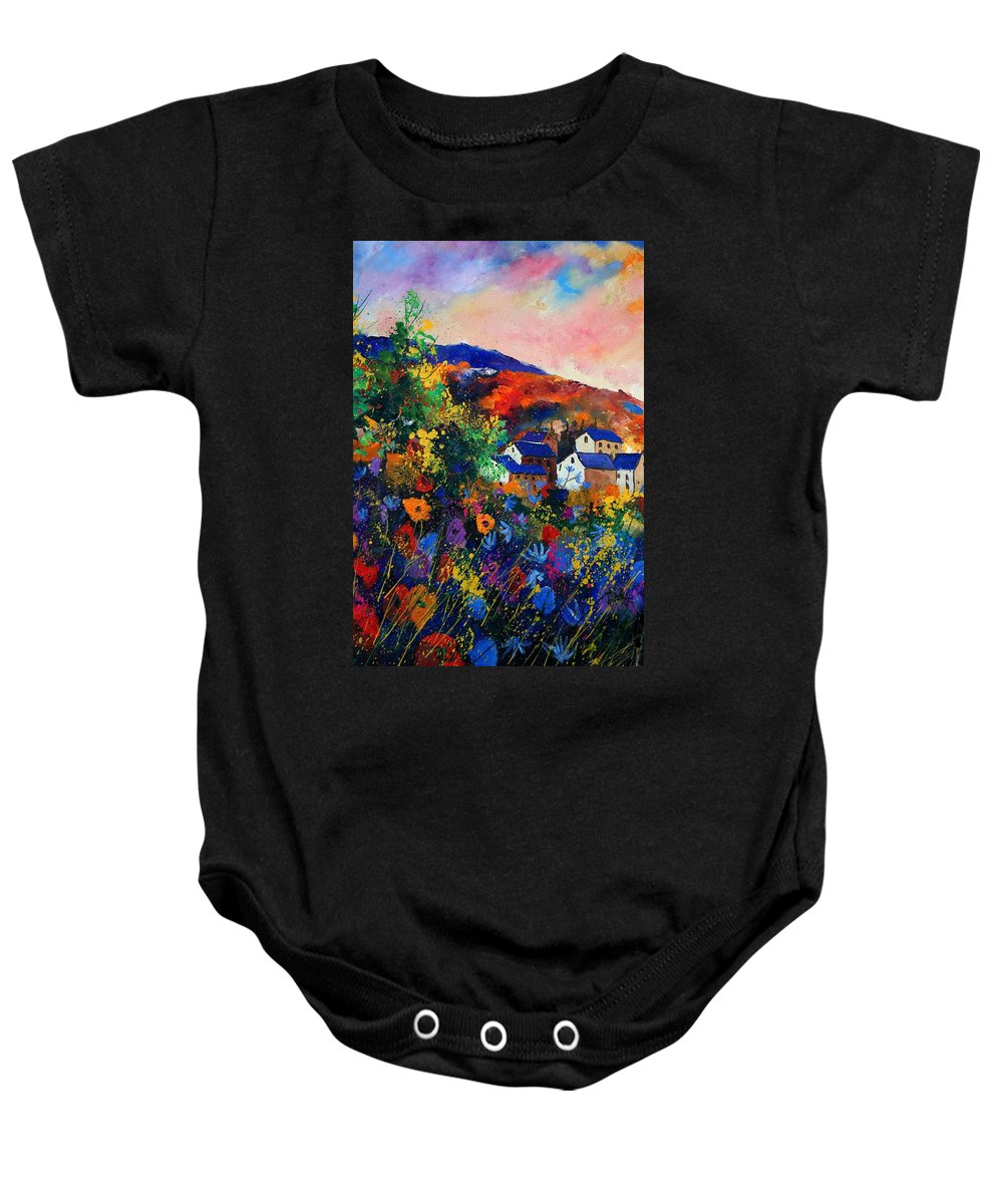 Landscape Baby Onesie featuring the painting Summer by Pol Ledent