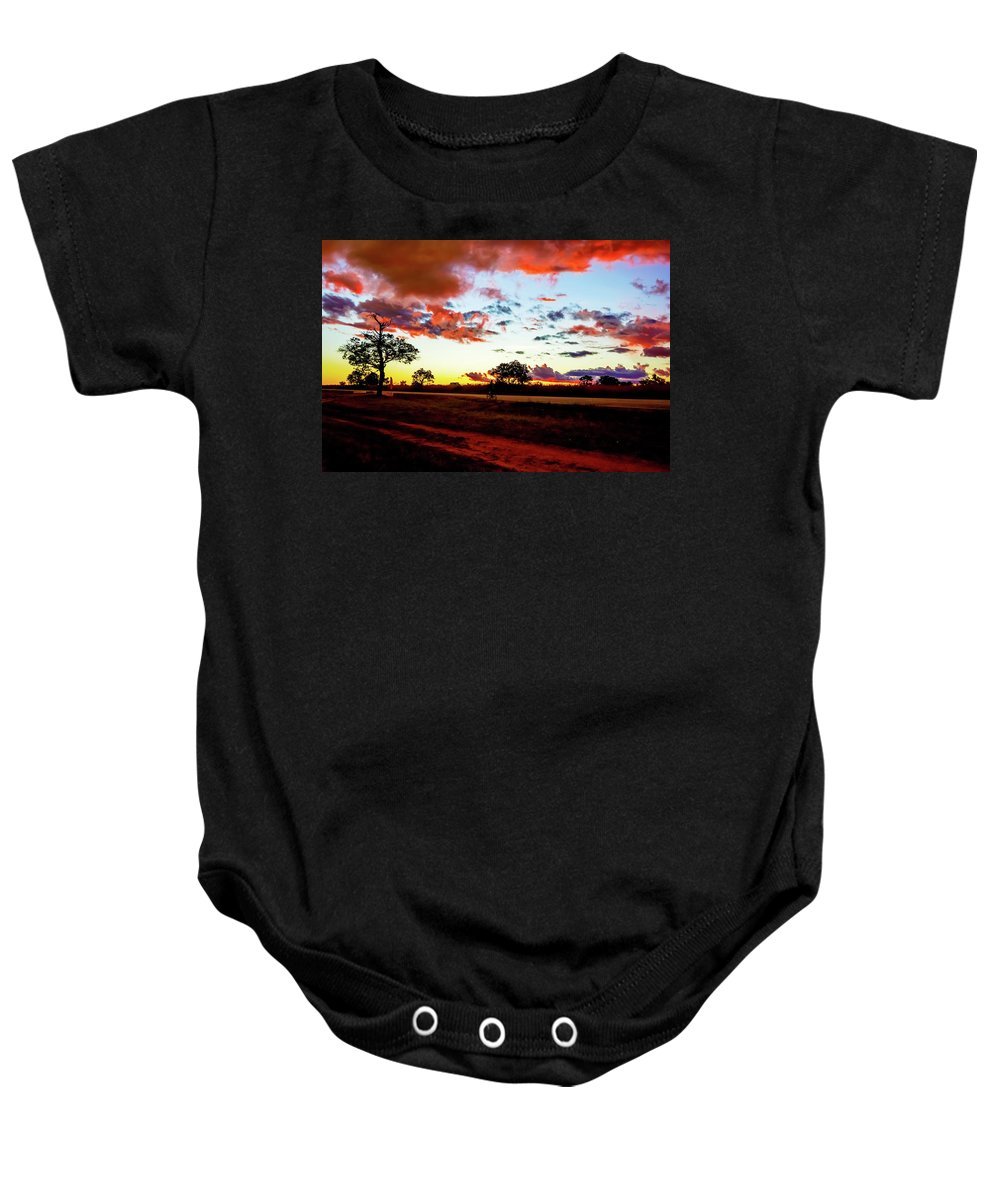 Picturesque Baby Onesie featuring the photograph Sunset Landscape In Zambia by Marek Poplawski