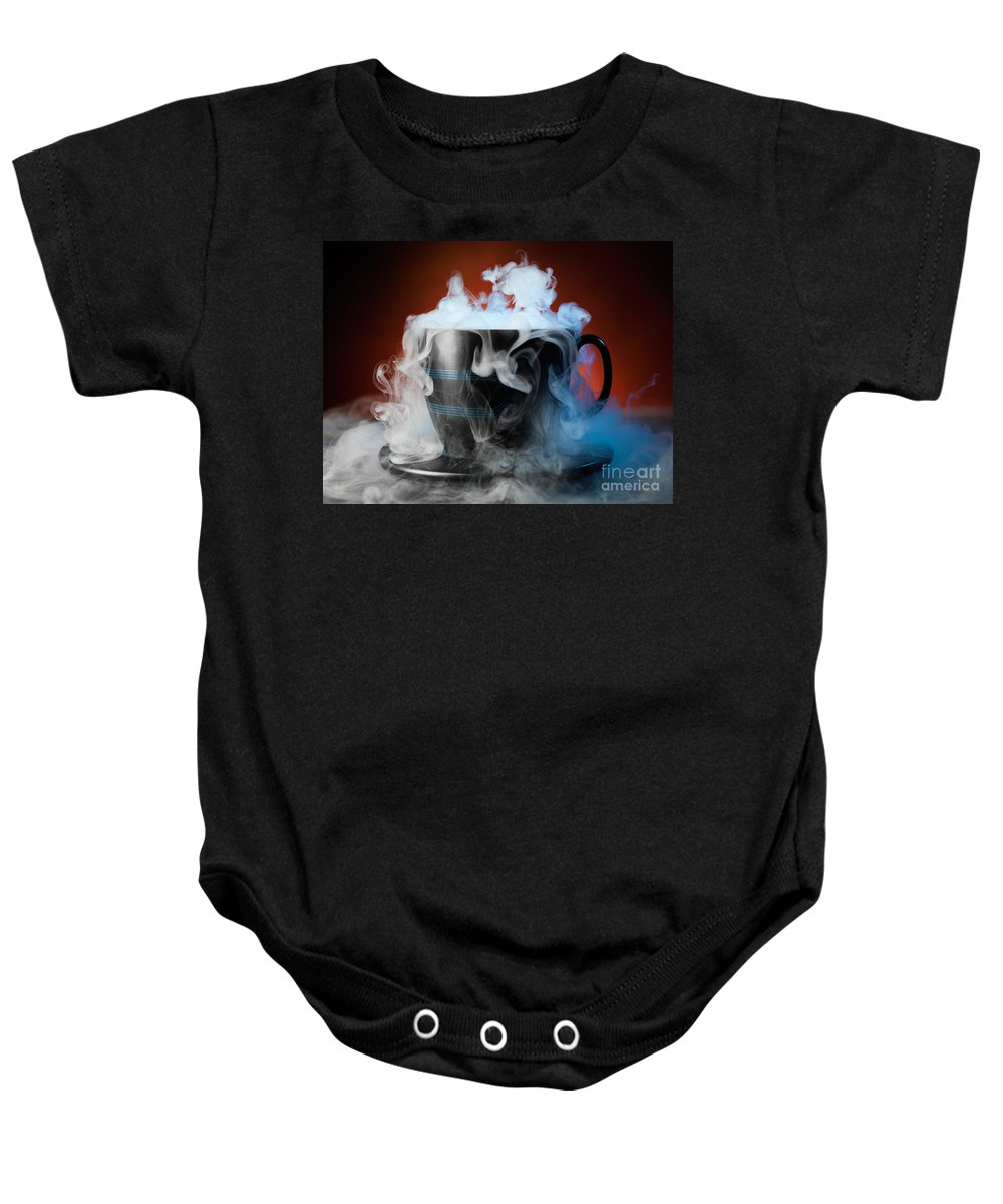 Tea Cup Baby Onesie featuring the photograph Tea Cup by Oleksiy Maksymenko
