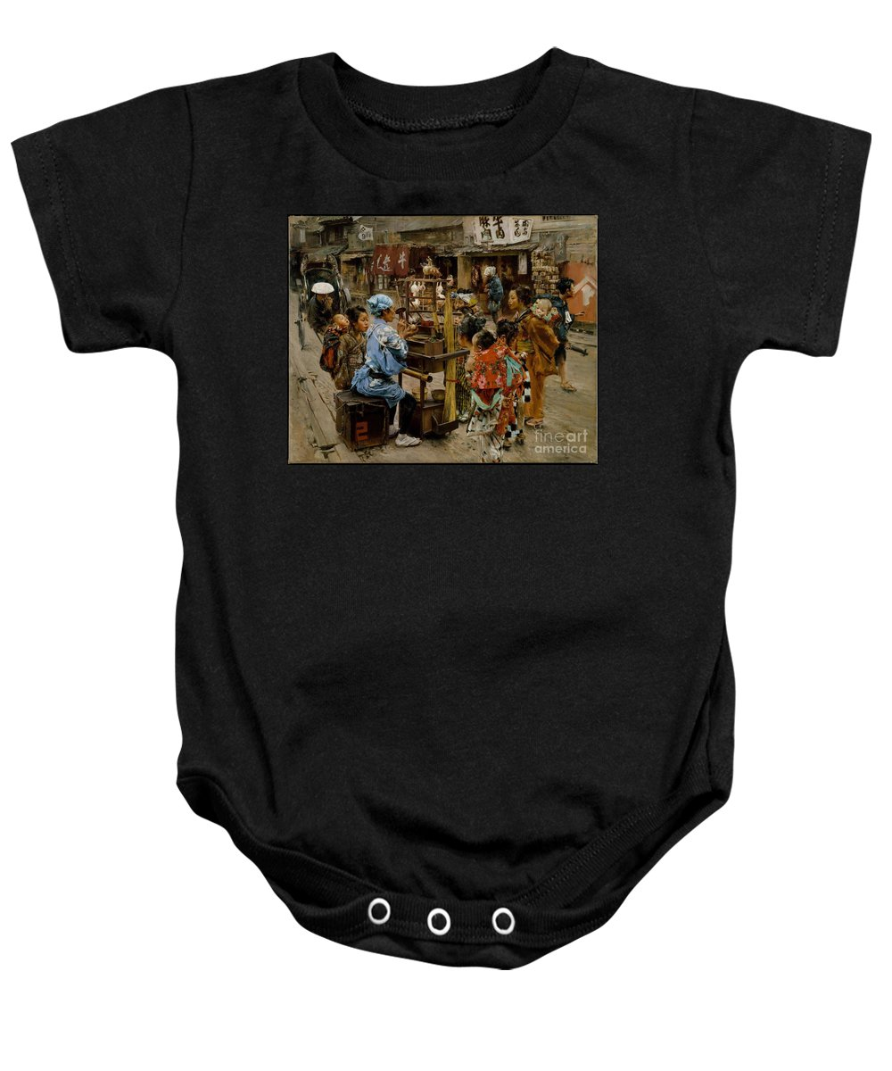 The Ameya Baby Onesie featuring the painting The Ameya by Celestial Images