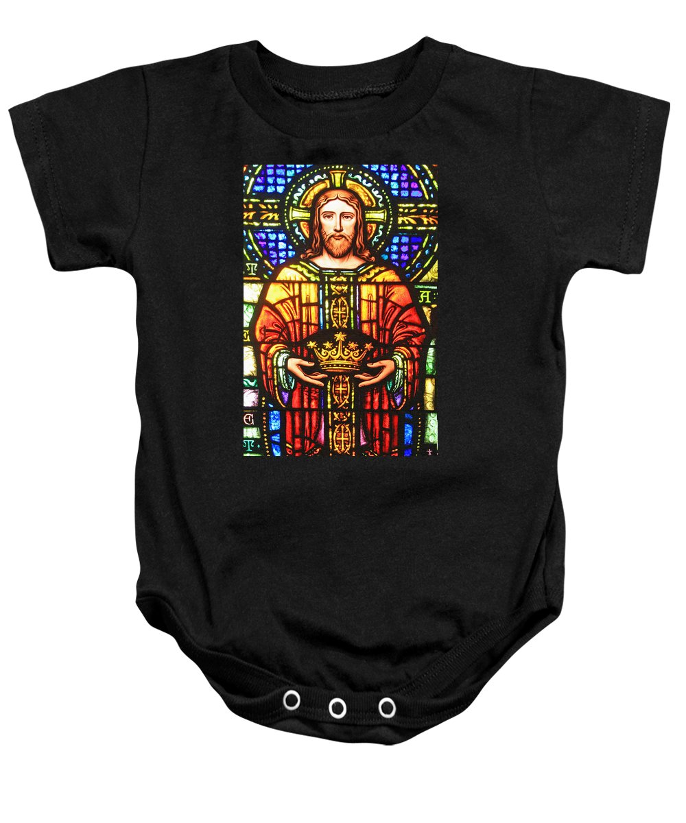 Stained Glass Baby Onesie featuring the photograph The Crown by Munir Alawi