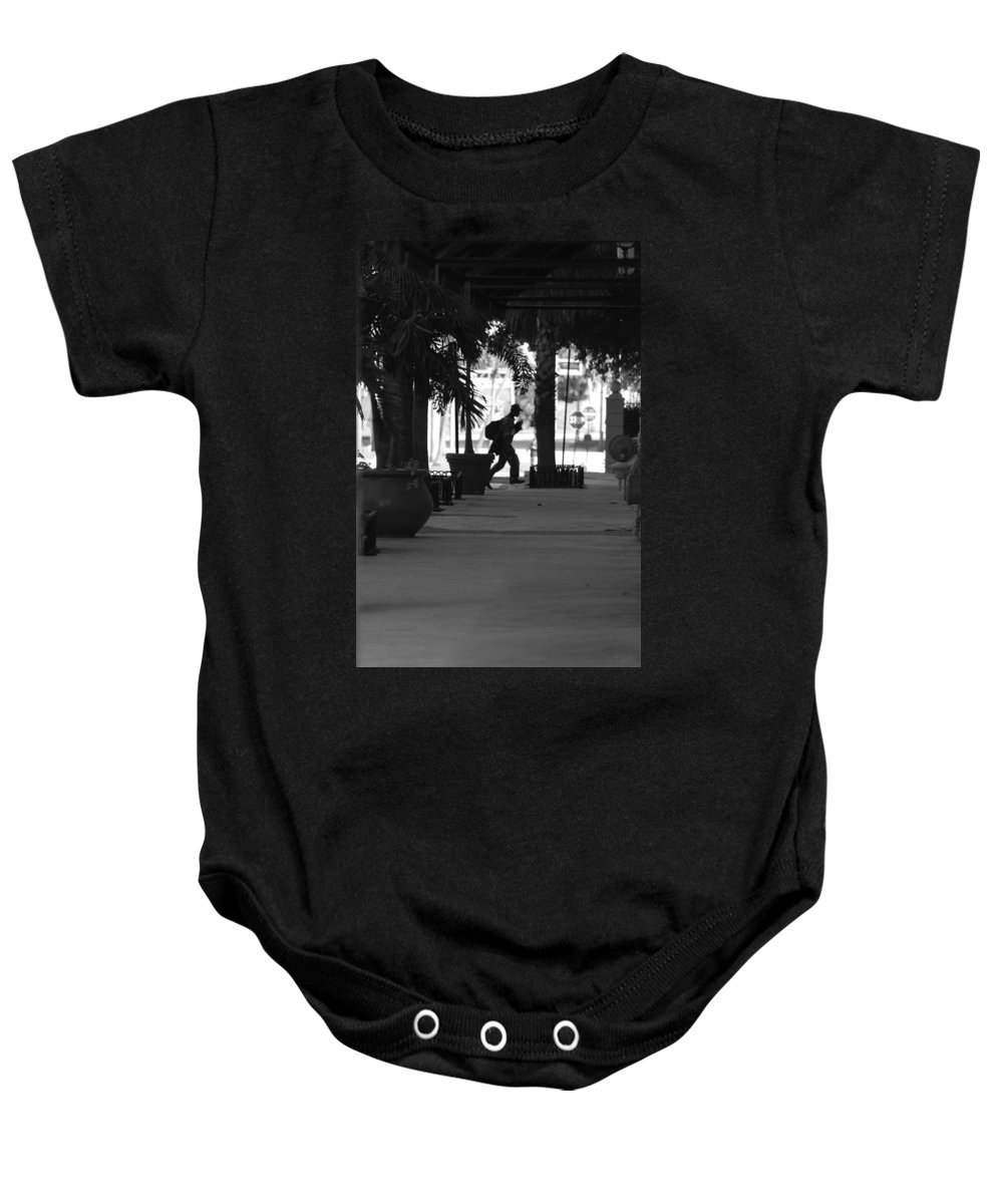 Street Scene Baby Onesie featuring the photograph The Post Man by Rob Hans
