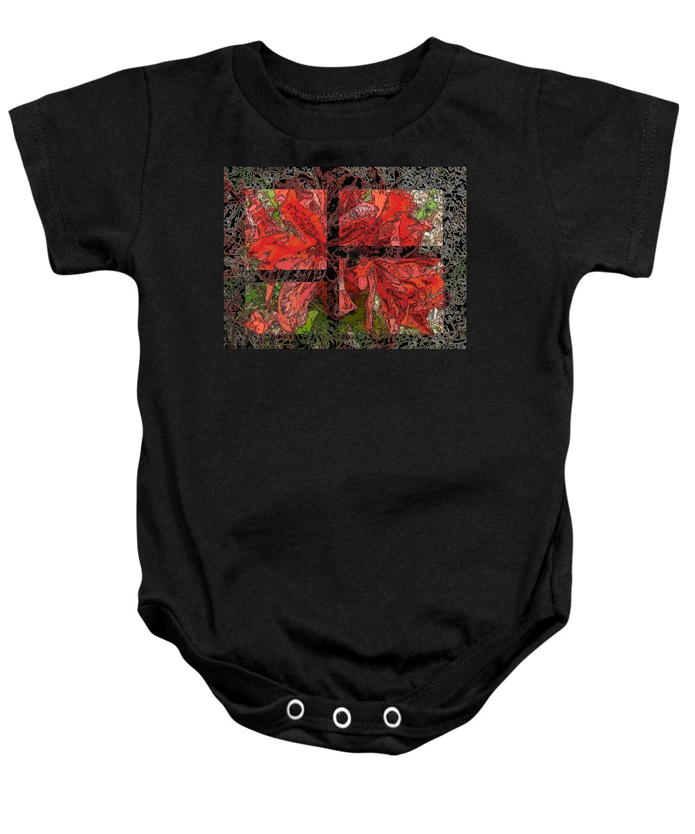 Abstract Baby Onesie featuring the digital art The Rhody 02 by Tim Allen