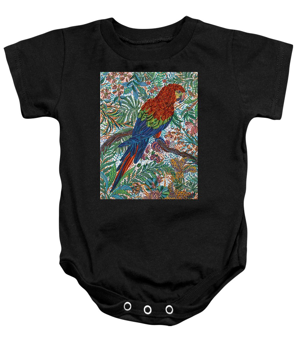 Unpaired Baby Onesie featuring the painting Unpaired by Erika Pochybova