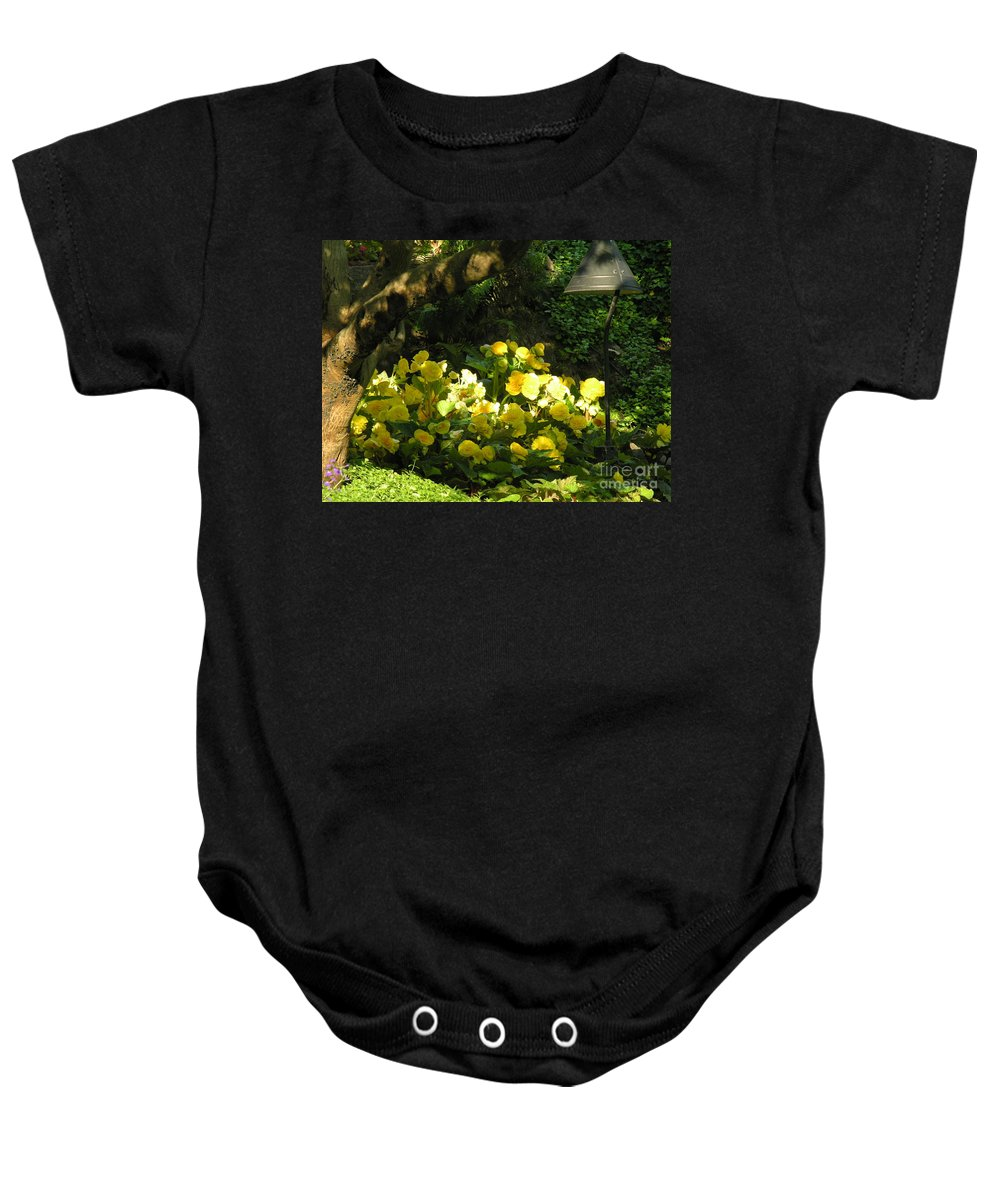 Yello Baby Onesie featuring the photograph Untitled by Diane Greco-Lesser