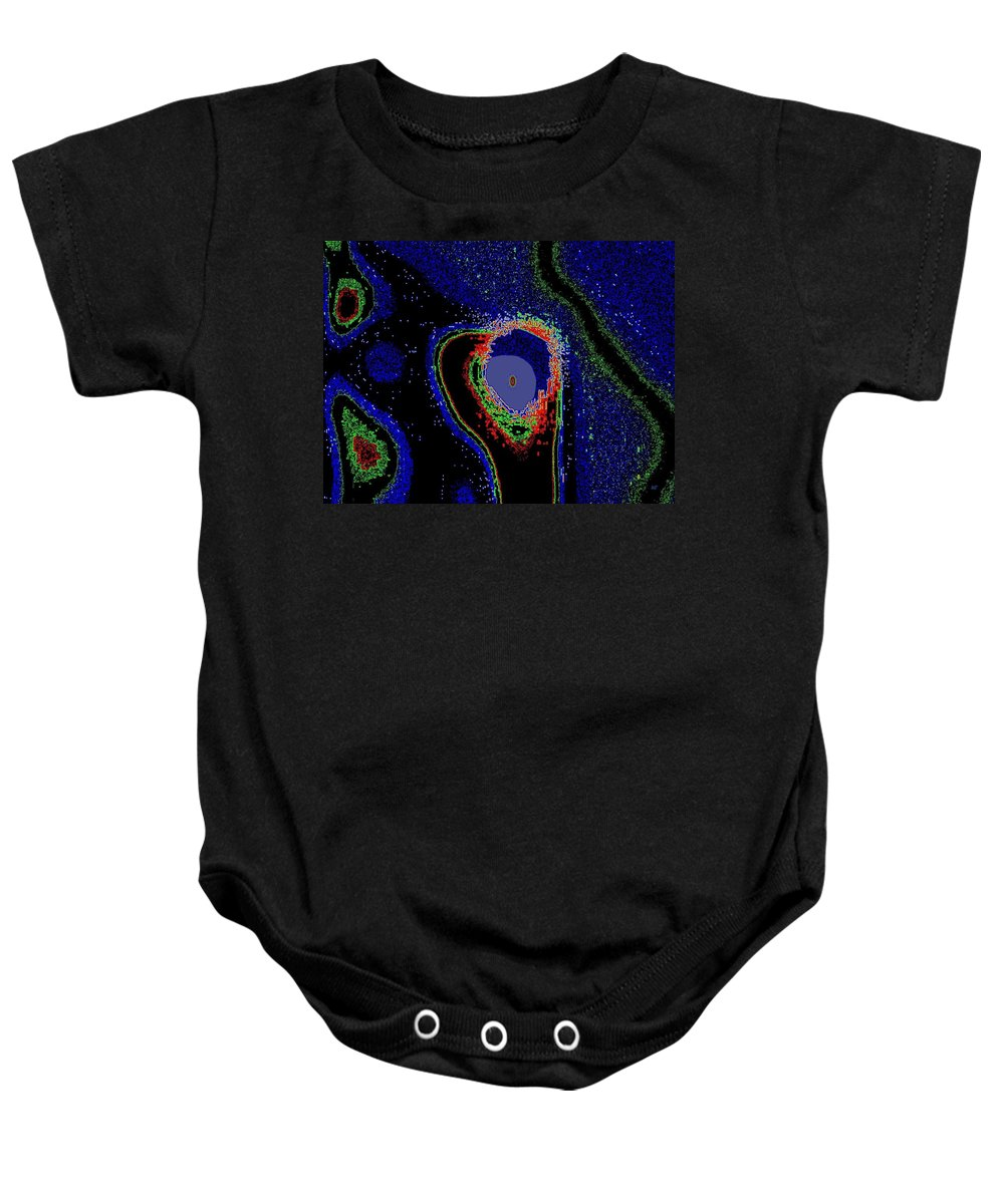 Abstract Baby Onesie featuring the digital art Up Periscope by Will Borden