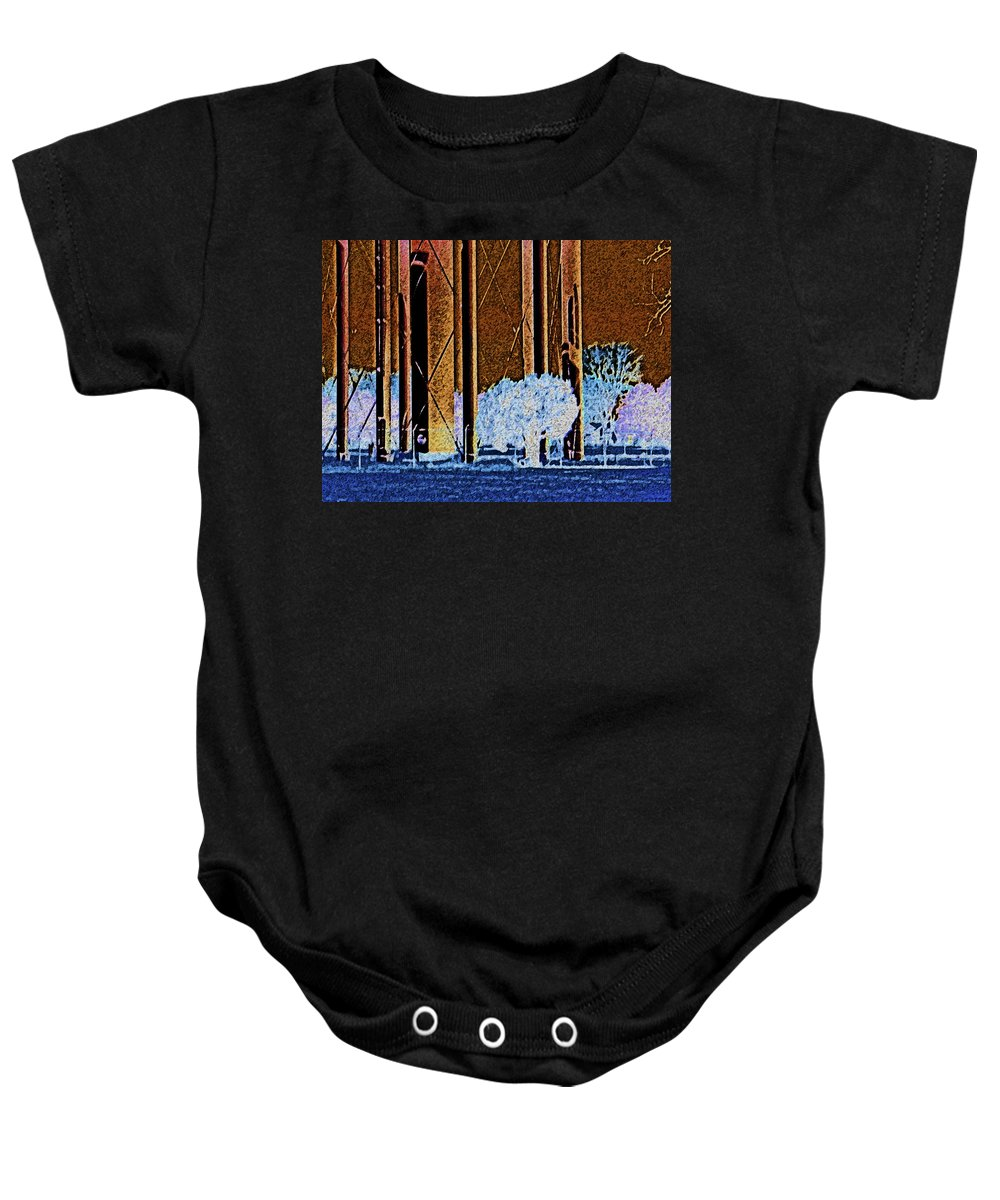 Abstract Baby Onesie featuring the photograph Urban Landscape by Lenore Senior