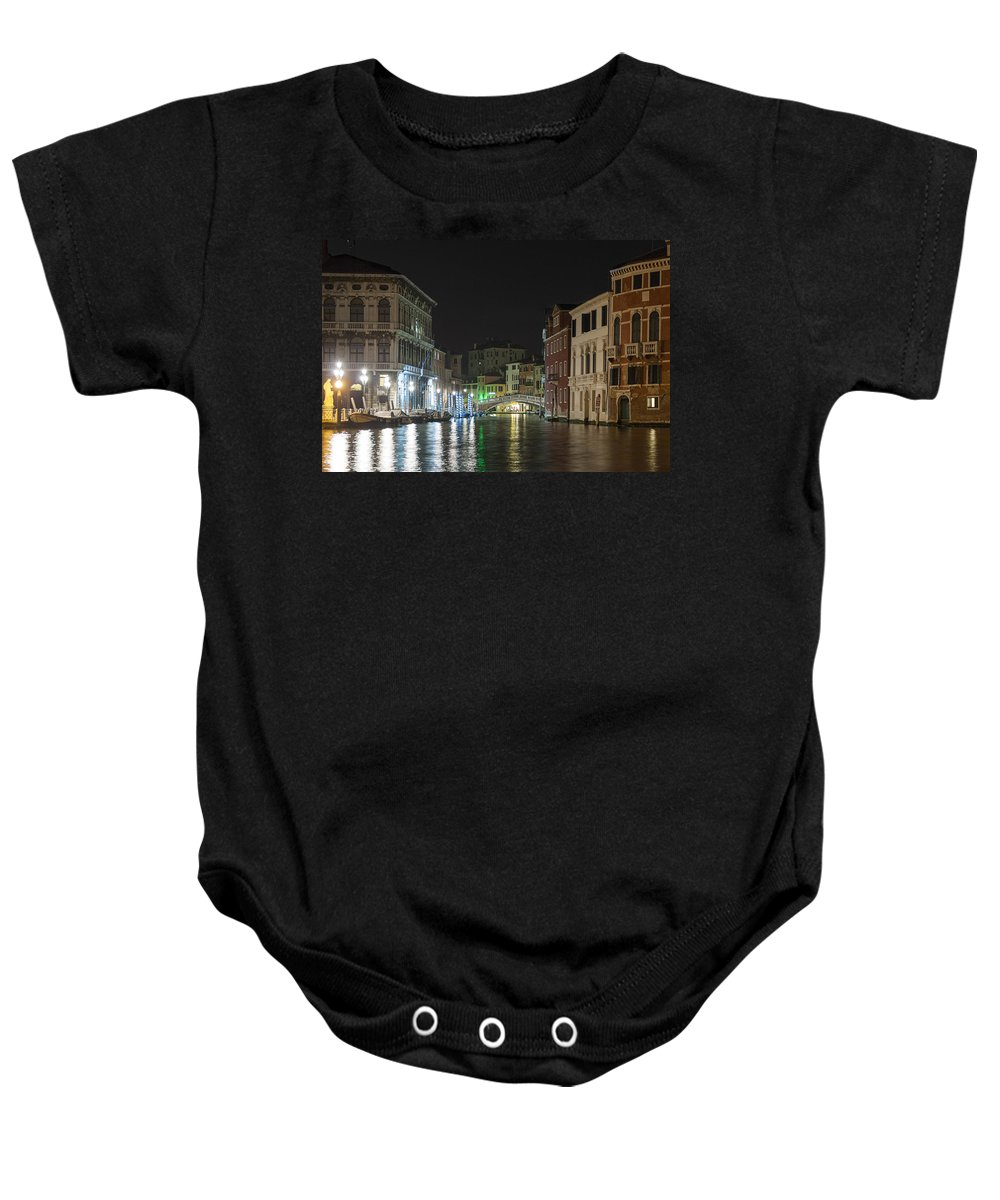 Grand Canal Baby Onesie featuring the photograph Romantic Venice by Silvia Bruno
