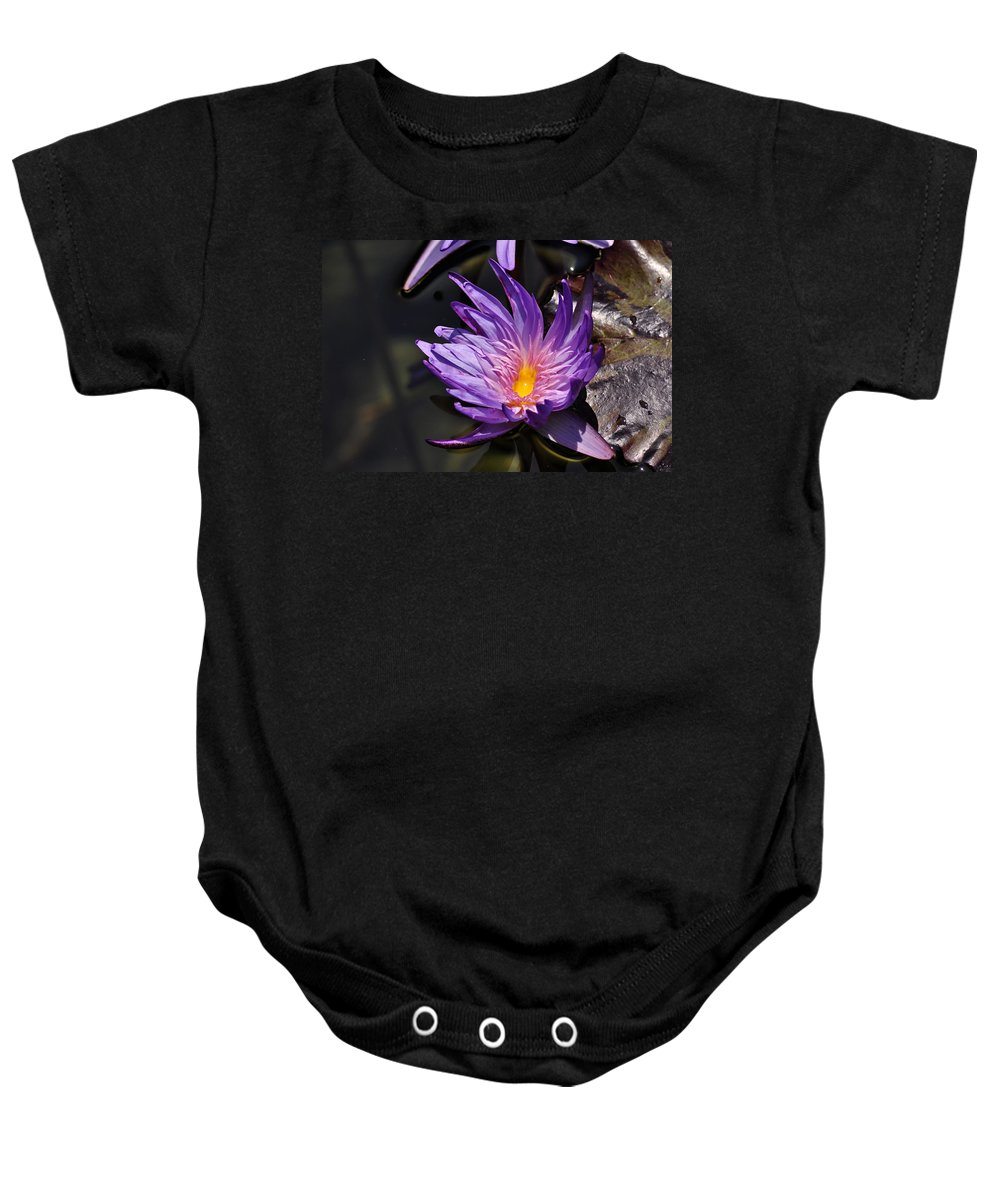 Clay Baby Onesie featuring the photograph Water Floral by Clayton Bruster