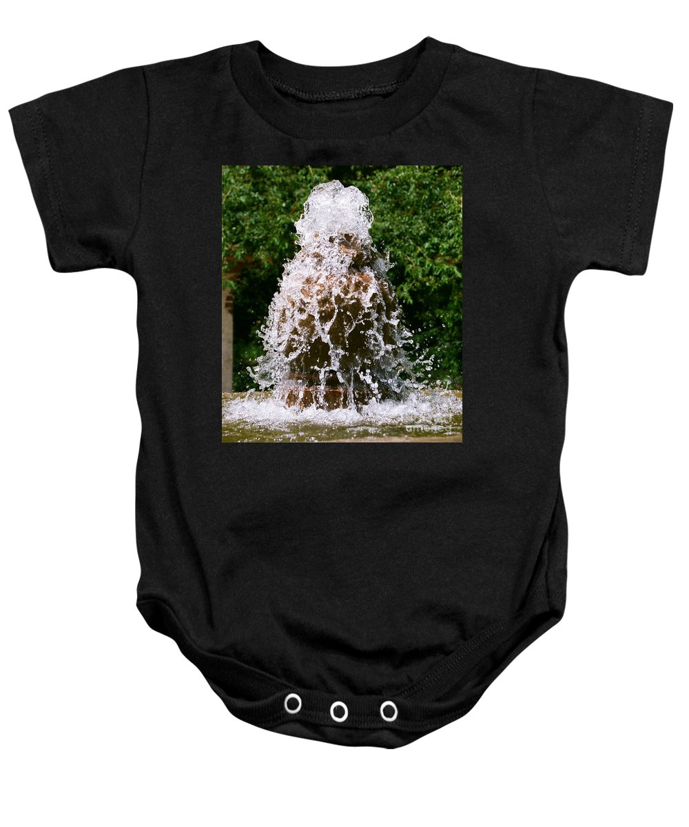 Water Baby Onesie featuring the photograph Water Fountain by Dean Triolo