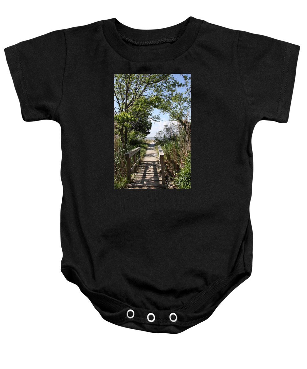 Way Baby Onesie featuring the photograph Way To The Beach by Christiane Schulze Art And Photography