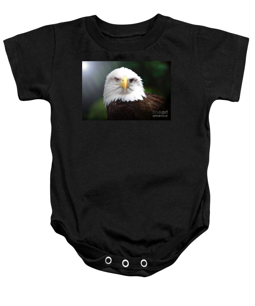 Bird Baby Onesie featuring the photograph Where Eagles Dare 4 by Randy Matthews