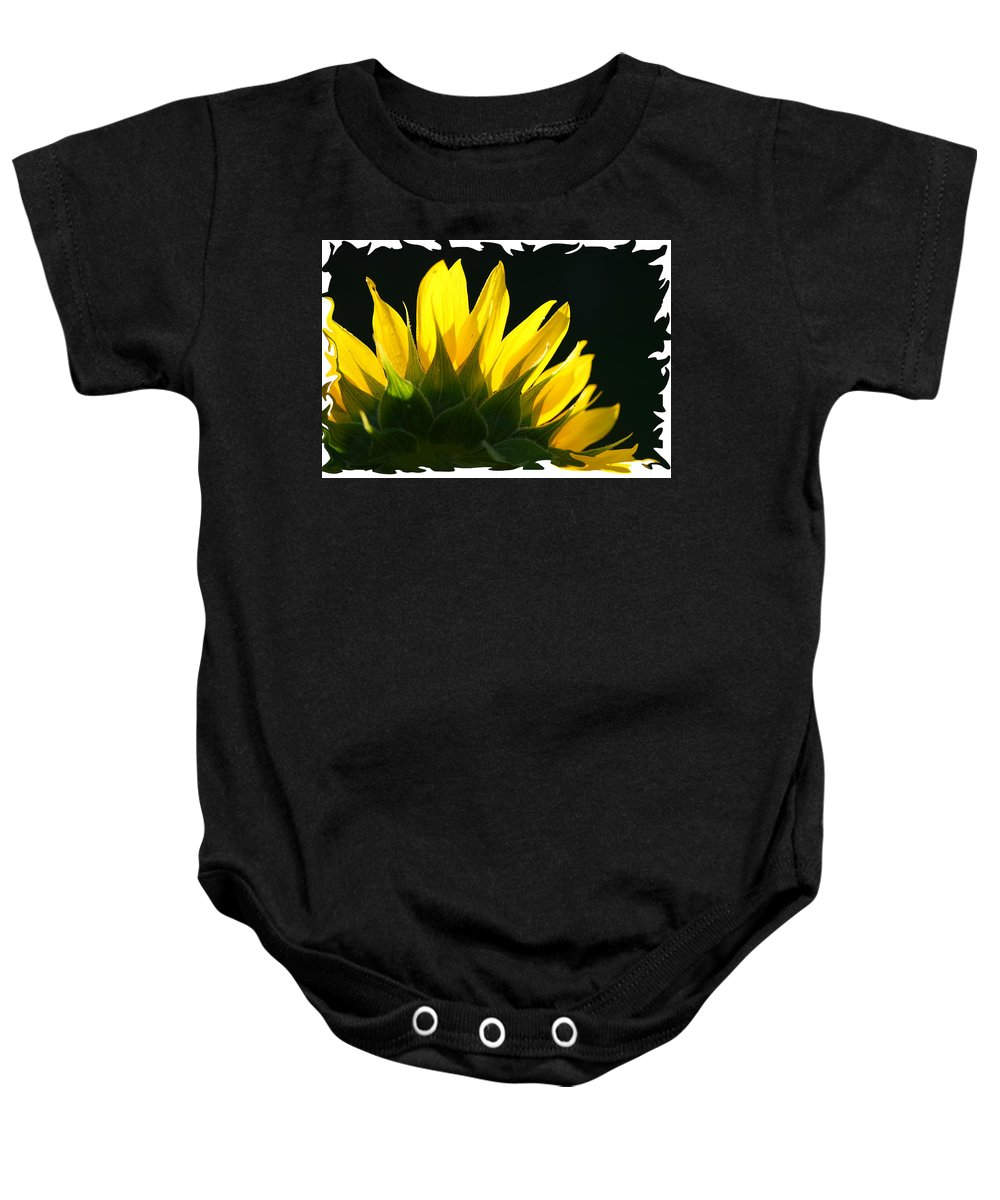 Sunflower Yellow Plant Green Photograph Phogotraphy Digital Art Baby Onesie featuring the photograph Wild Sunflower by Shari Jardina