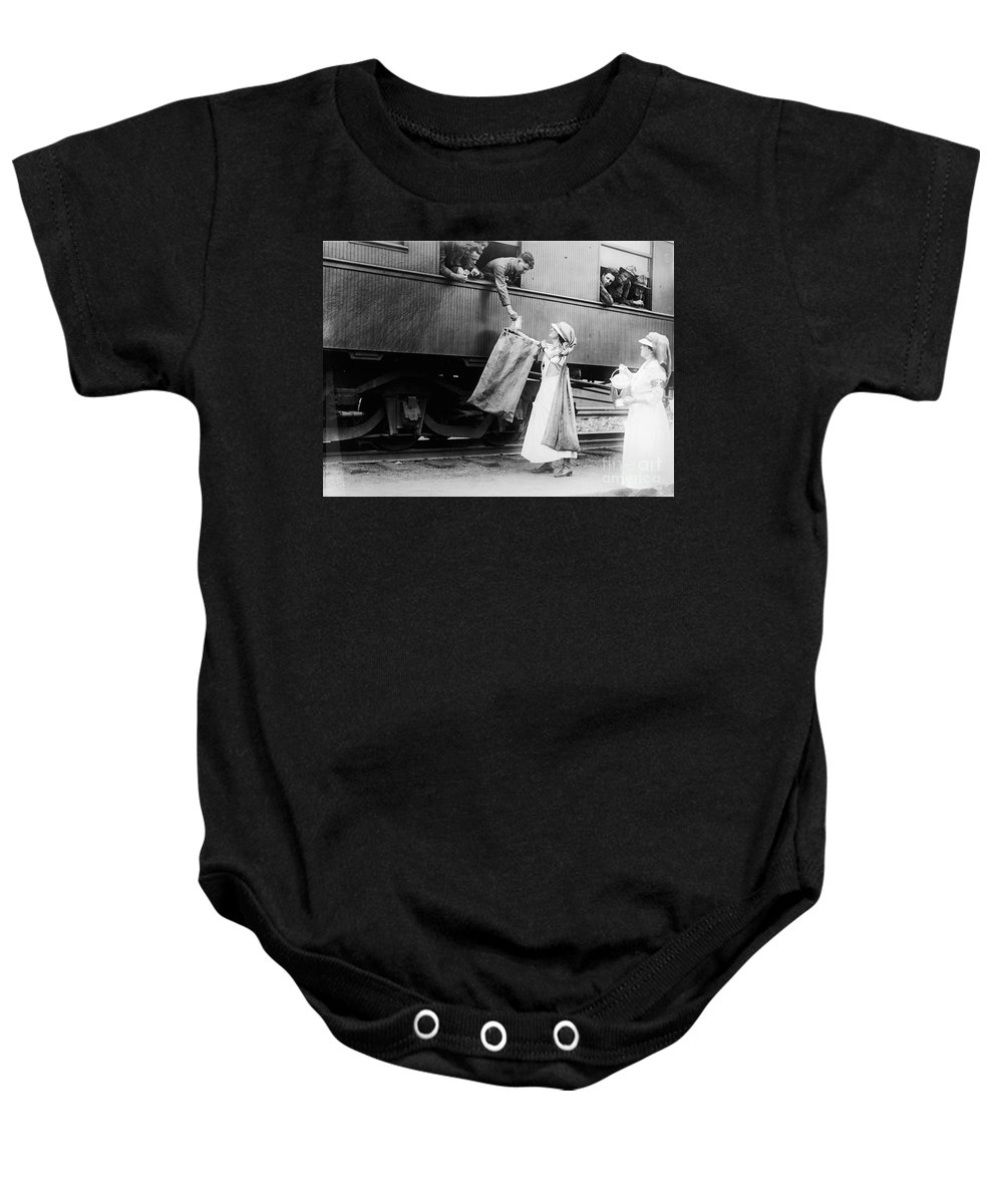 1918 Baby Onesie featuring the photograph World War I: Red Cross by Granger