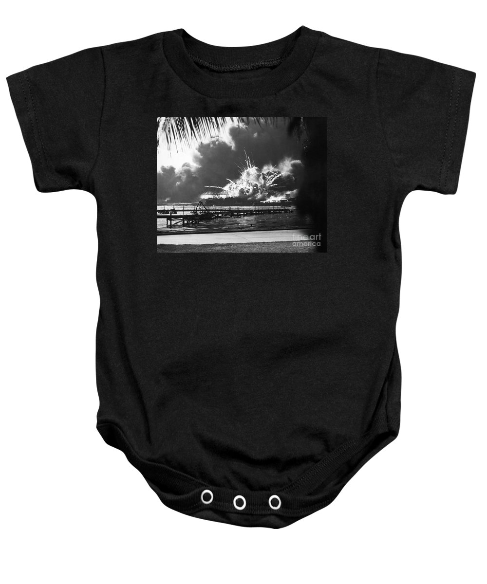 1941 Baby Onesie featuring the photograph World War II: Pearl Harbor by Granger