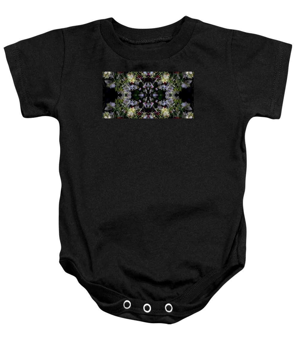 Lavender Baby Onesie featuring the photograph Worm Hole Mandala by Daniel Unfried