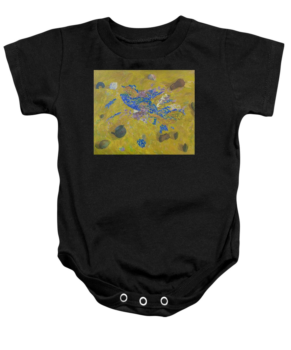 Sand Baby Onesie featuring the painting Still Life by Robert Nizamov