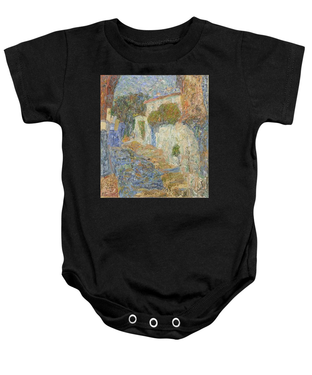 Landscape Baby Onesie featuring the painting Alupka by Robert Nizamov