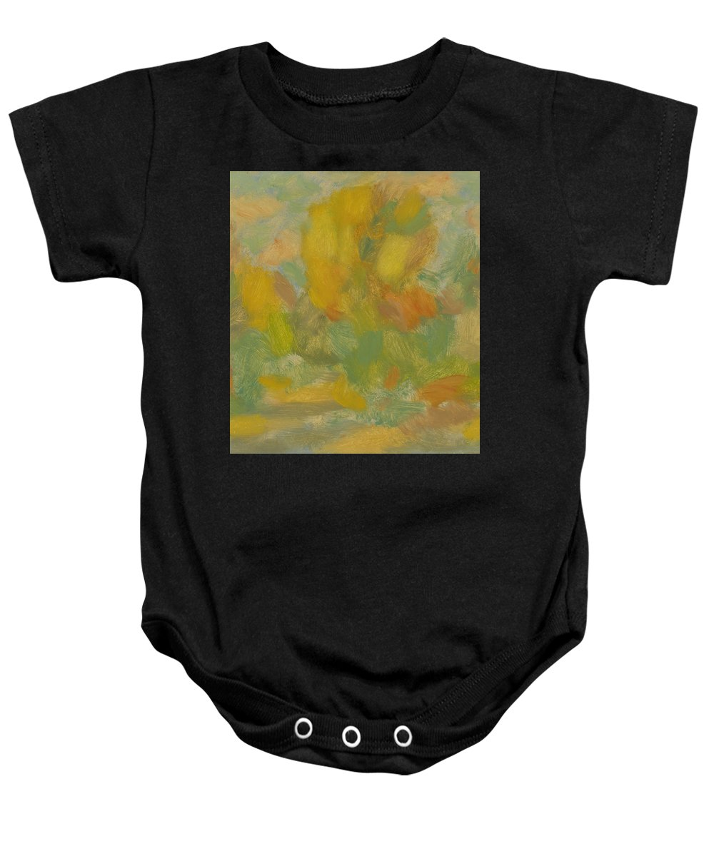 Street Baby Onesie featuring the painting Autumn by Robert Nizamov