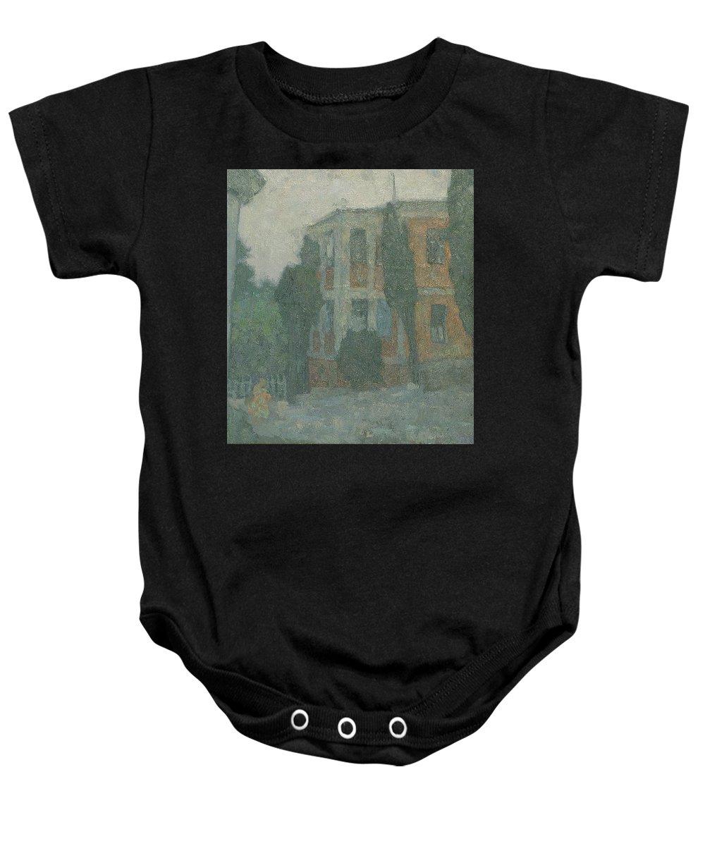 Summer Baby Onesie featuring the painting Alupka by Robert Nizamov