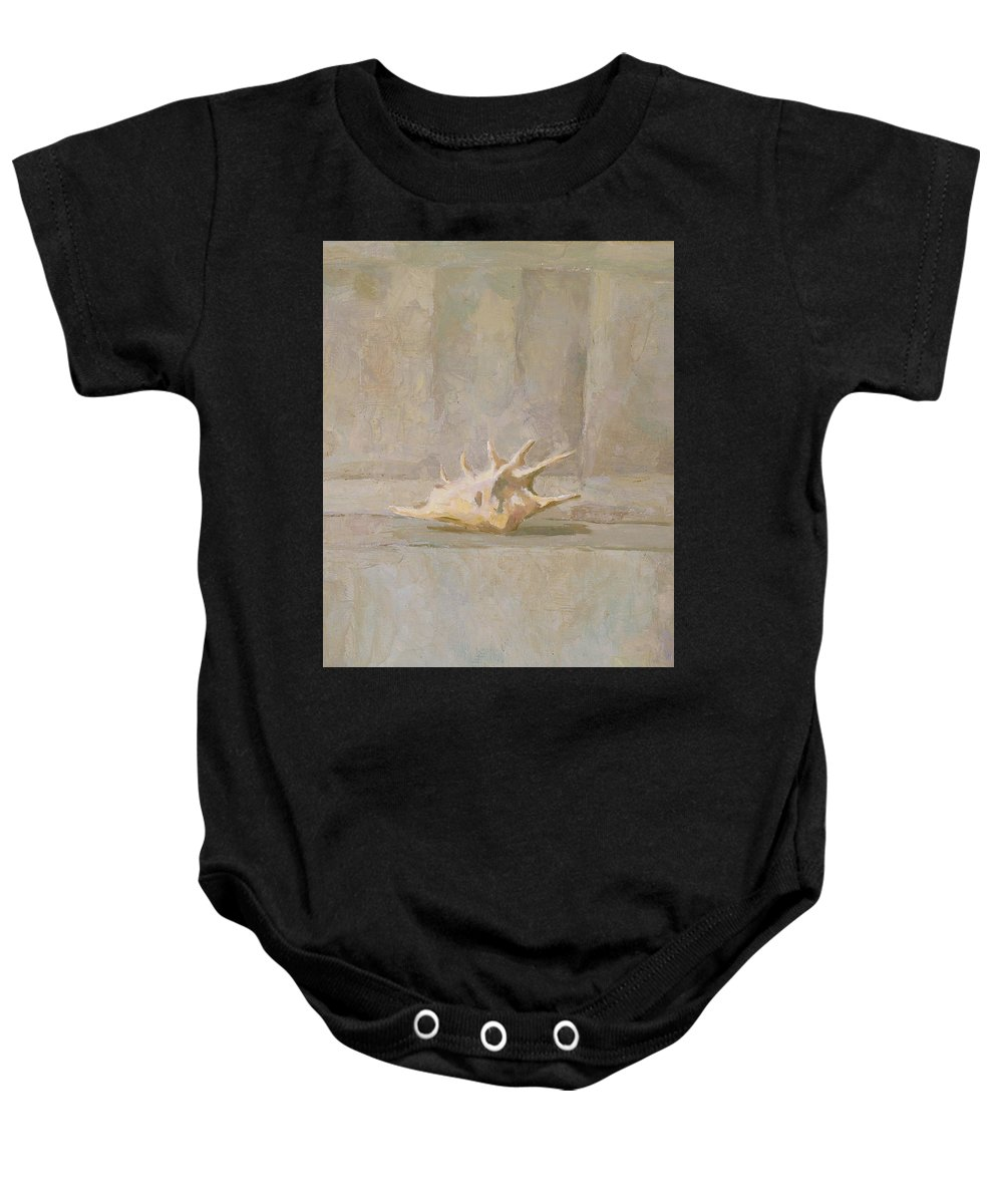 Shell Baby Onesie featuring the painting Still Life by Robert Nizamov