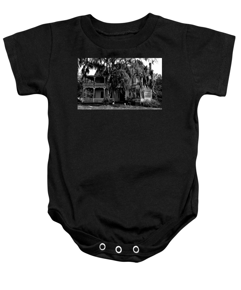 House Baby Onesie featuring the painting 13th House On 13th Street by David Lee Thompson