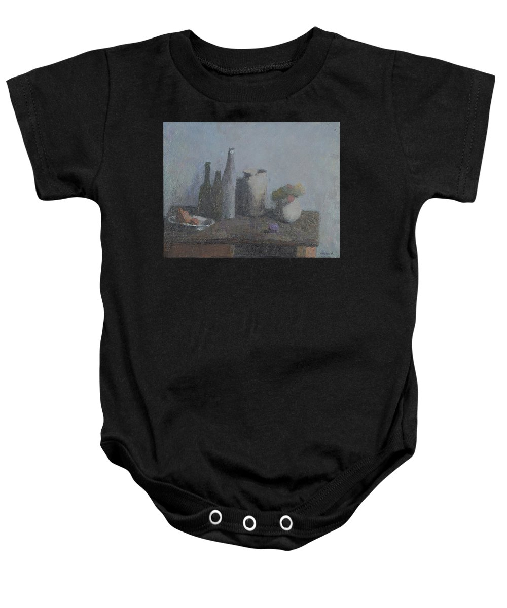 Bottle Baby Onesie featuring the painting Still Life by Robert Nizamov