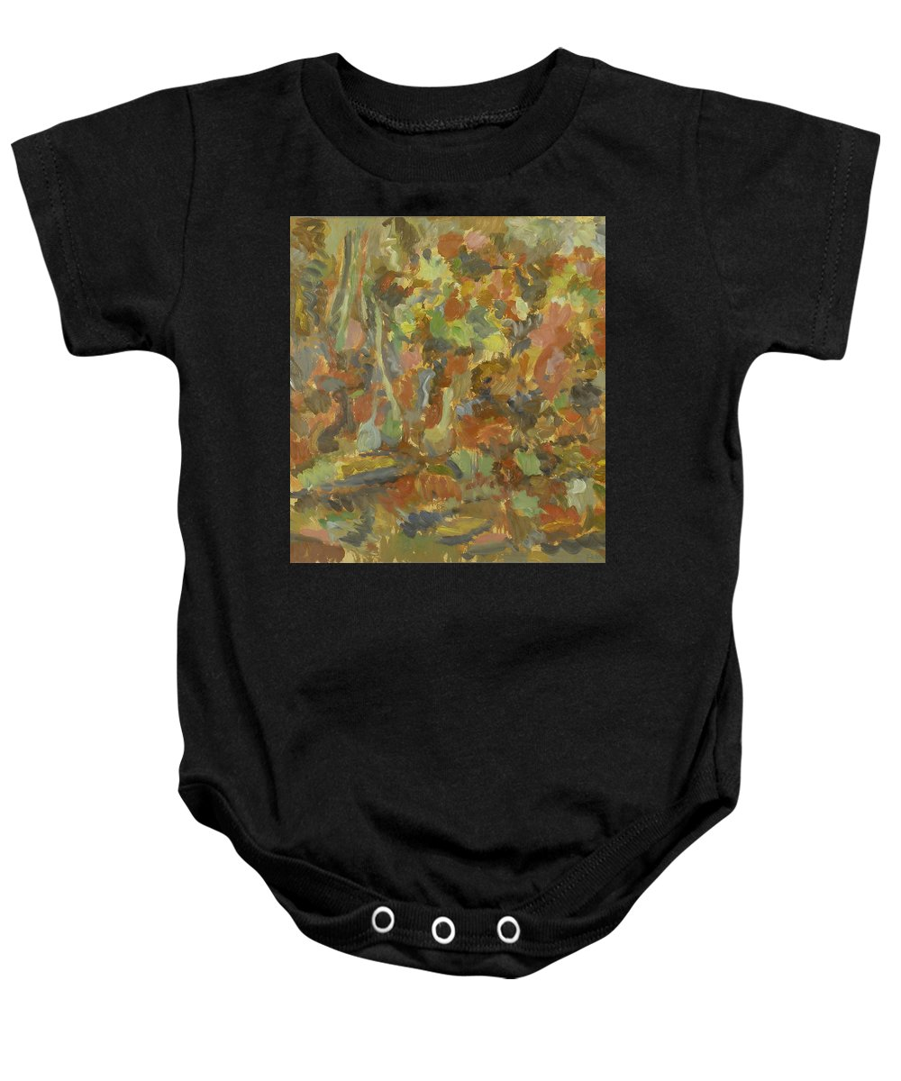 Apples Baby Onesie featuring the painting Still Life by Robert Nizamov