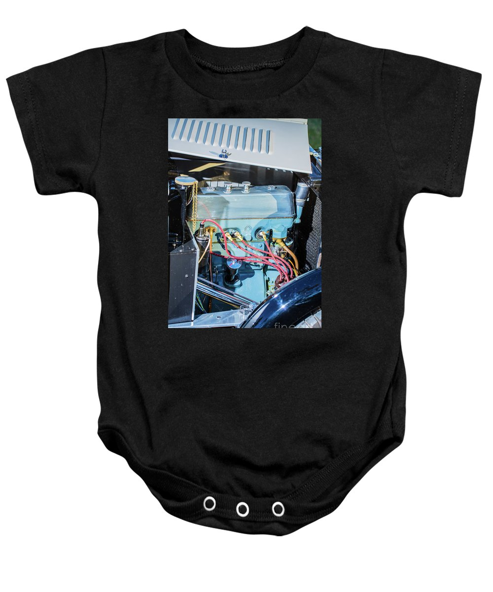 1930 Mg Baby Onesie featuring the photograph 1743.036 1930 Mg Engine Plate by M K Miller