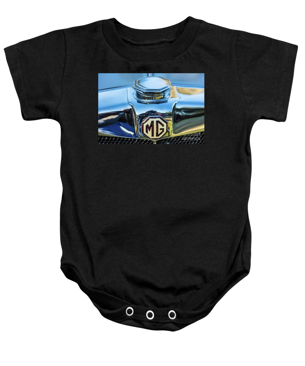 1930 Mg Baby Onesie featuring the photograph 1743.040 Logo 1930 Mg by M K Miller