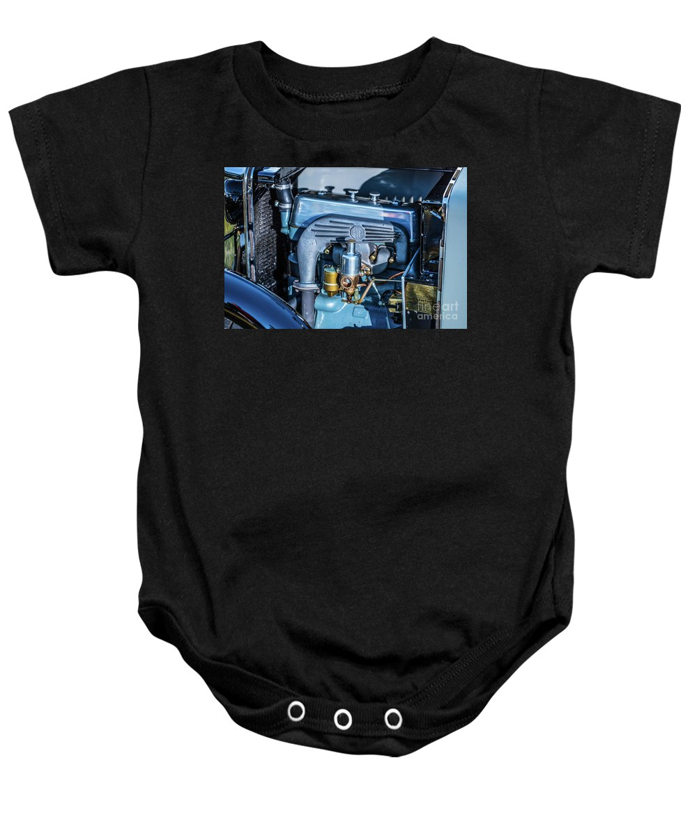 1930 Mg Baby Onesie featuring the photograph 1743.046 1930 Mg Engin Plate by M K Miller