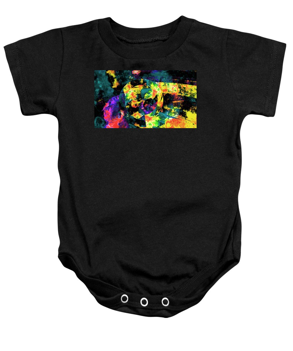 Abstract Urban Art Baby Onesie featuring the digital art Abstract by Galeria Trompiz