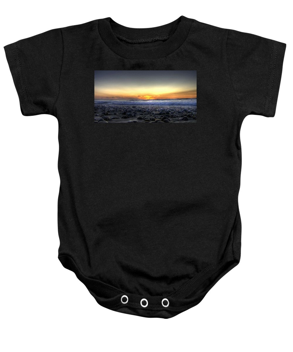 Set Baby Onesie featuring the digital art Nc Landscape by Usa Map