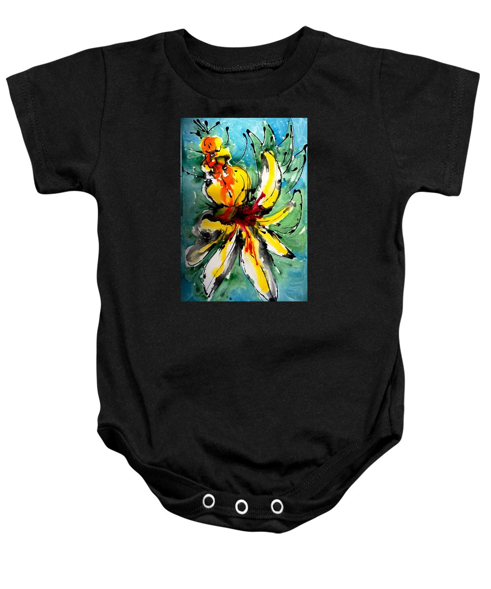 Baby Onesie featuring the painting The Divine Flower by Baljit Chadha