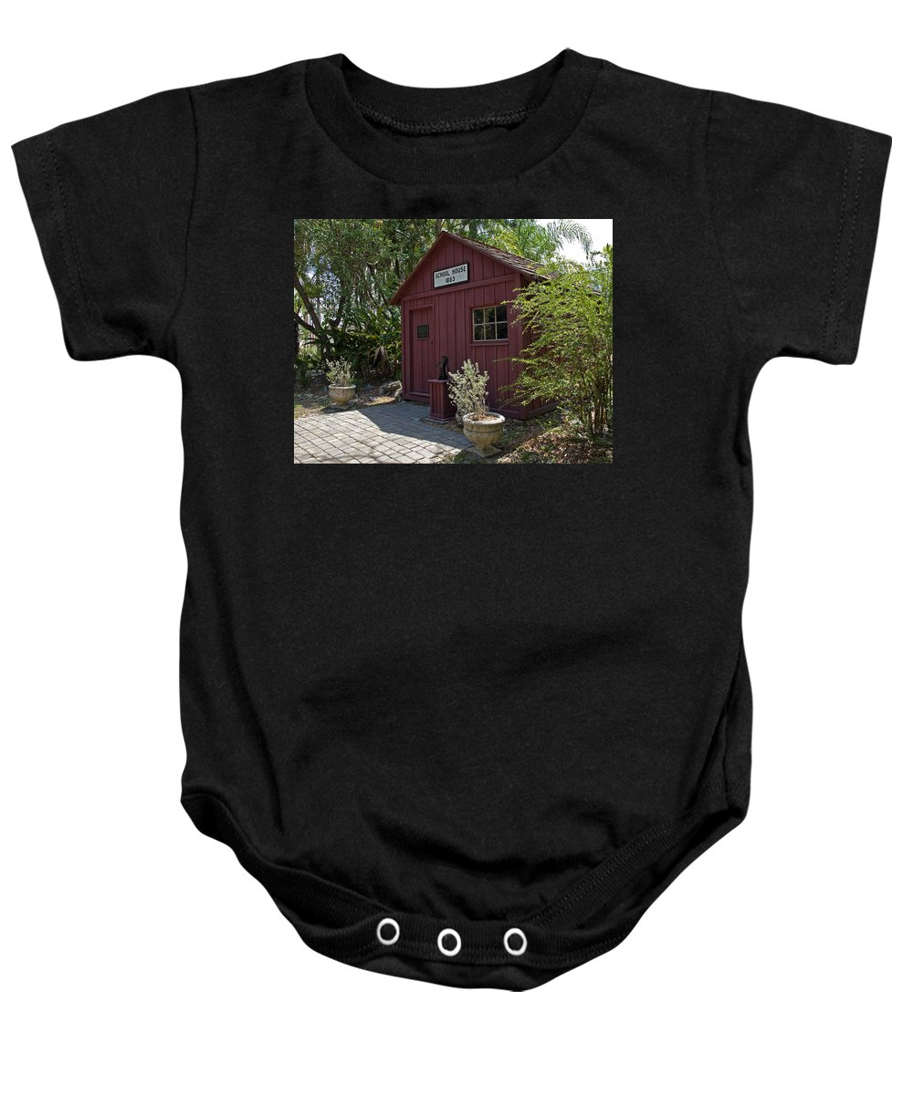 Little Baby Onesie featuring the photograph 1883 Little Red Schoolhouse by Allan Hughes