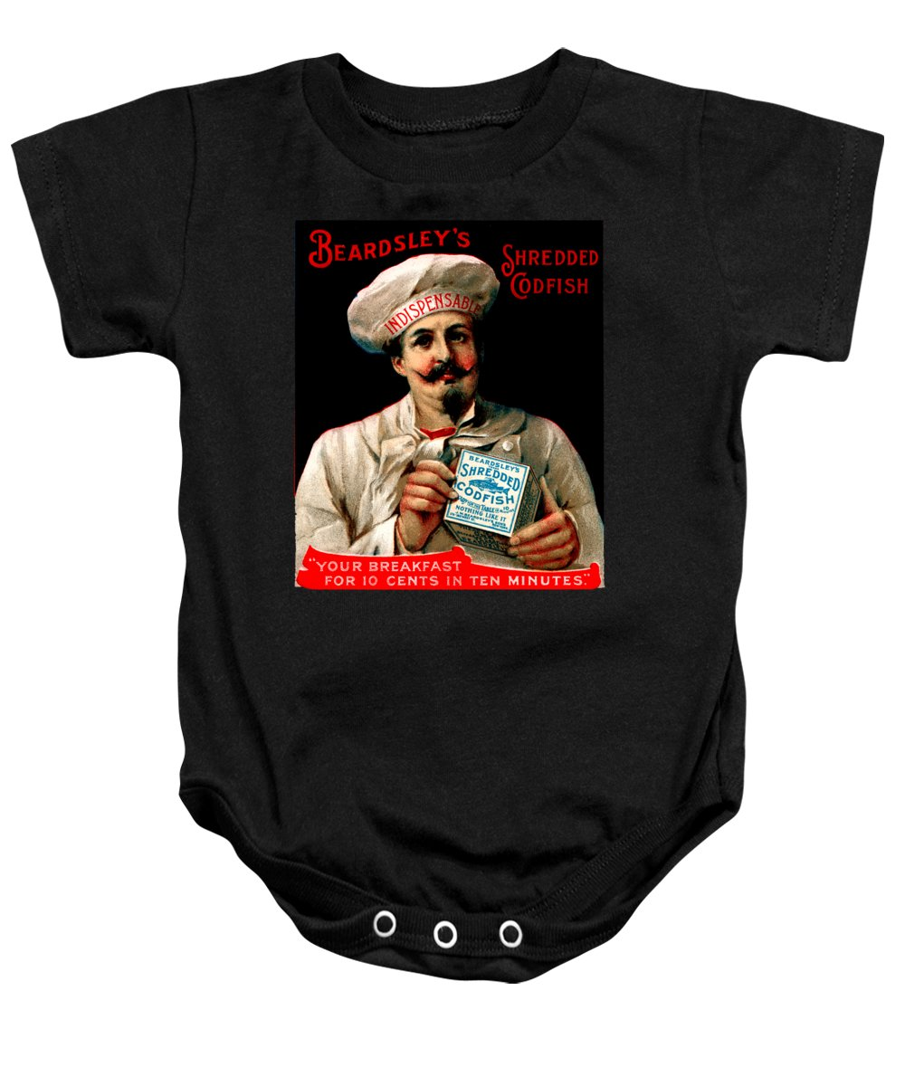 Vintage Baby Onesie featuring the painting 1895 Shredded Codfish Breakfast by Historic Image