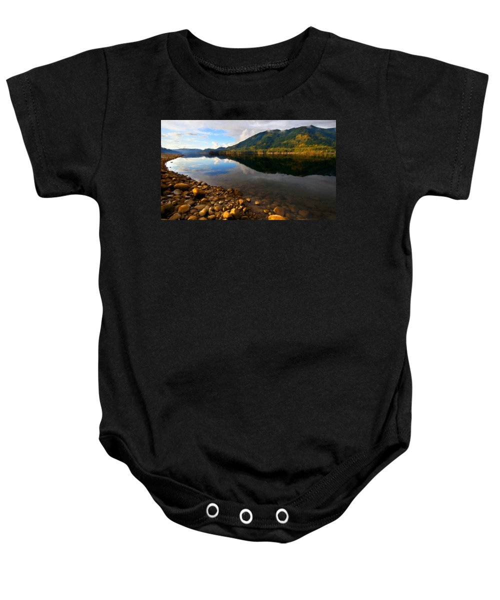 Landscape Baby Onesie featuring the digital art Landscape Acrylic Painting by Usa Map