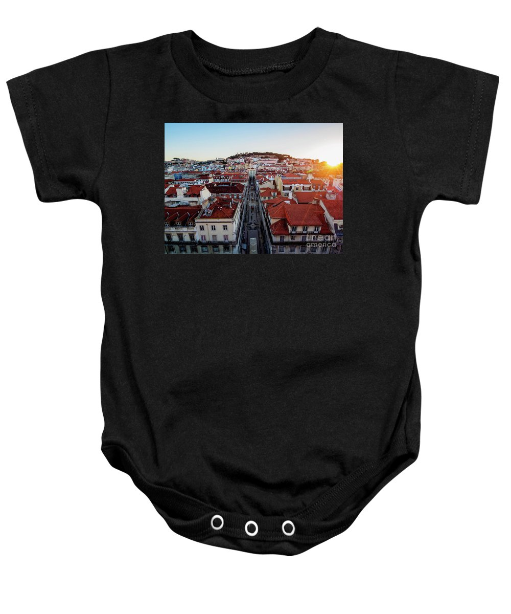 Lisbon Baby Onesie featuring the photograph Lisbon, Portugal by Karol Kozlowski