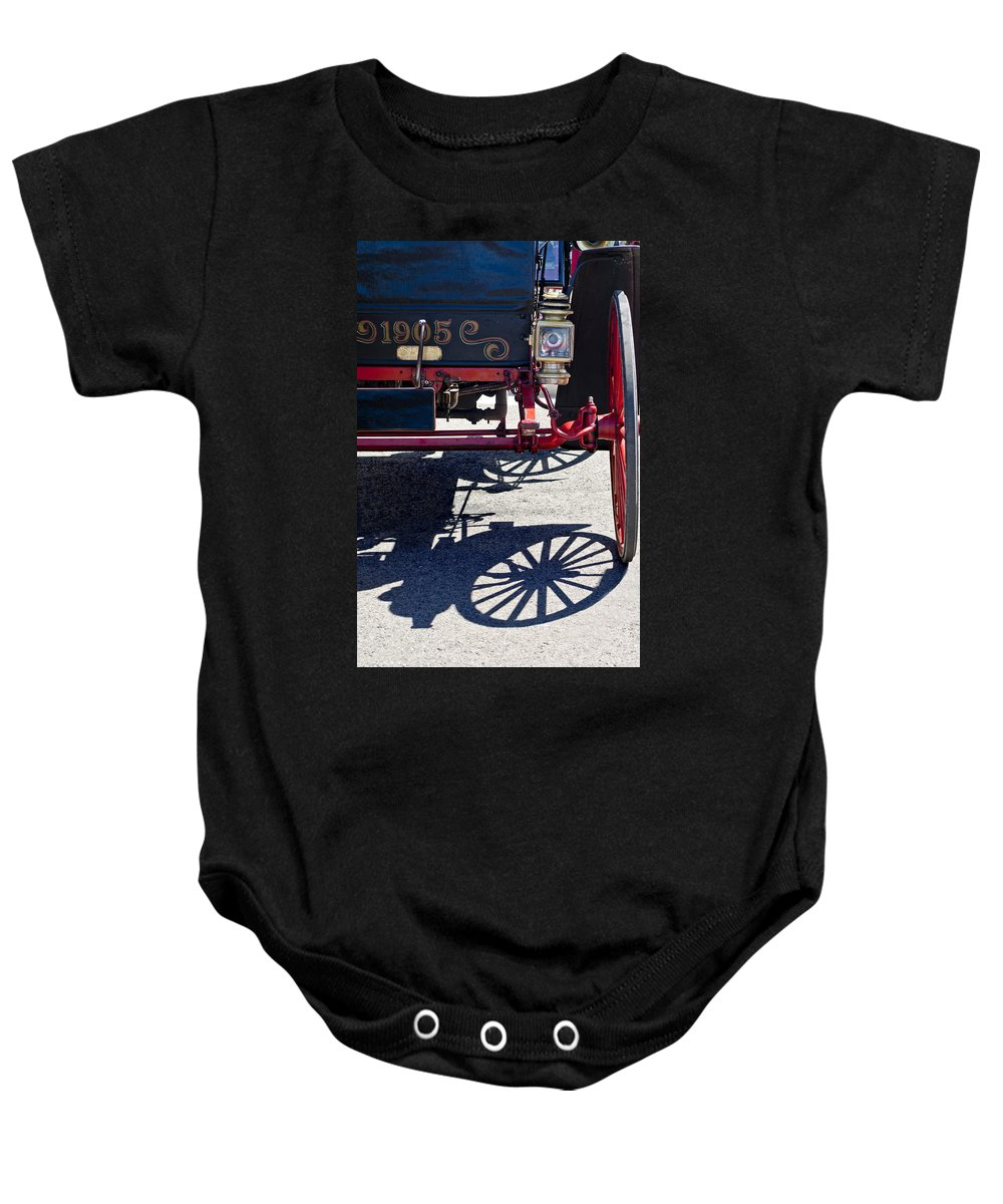 1905 Sears Motor Buggy Baby Onesie featuring the photograph 1905 Sears Motor Buggy by Jill Reger
