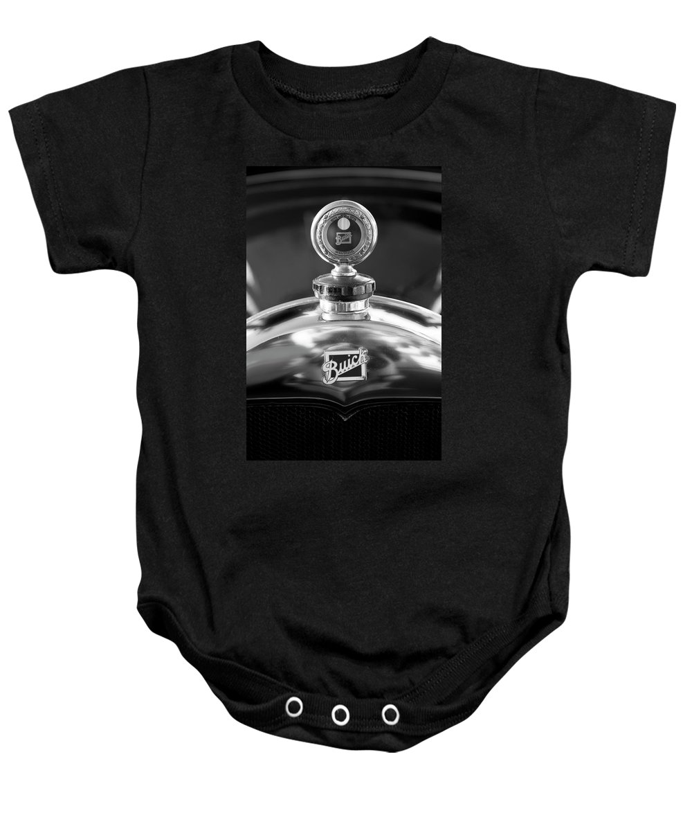 1928 Buick Baby Onesie featuring the photograph 1928 Buick Hood Ornament 2 by Jill Reger