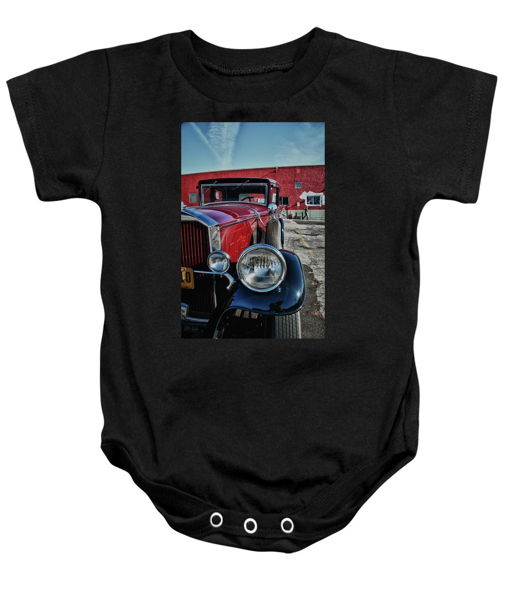 Antique Car Baby Onesie featuring the photograph 1931 Pierce Arow 3473 by Guy Whiteley