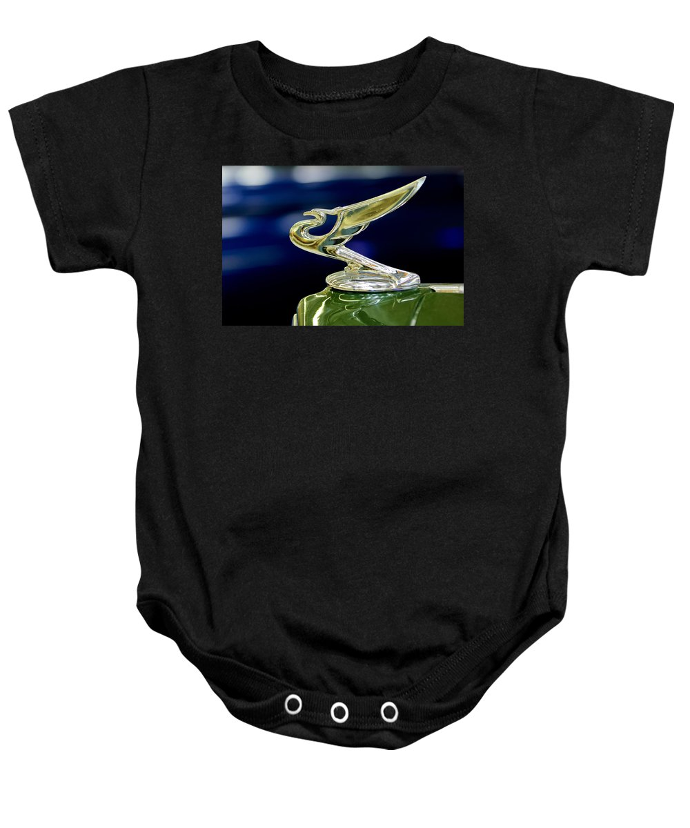 1935 Chevrolet Baby Onesie featuring the photograph 1935 Chevrolet Hood Ornament by Jill Reger