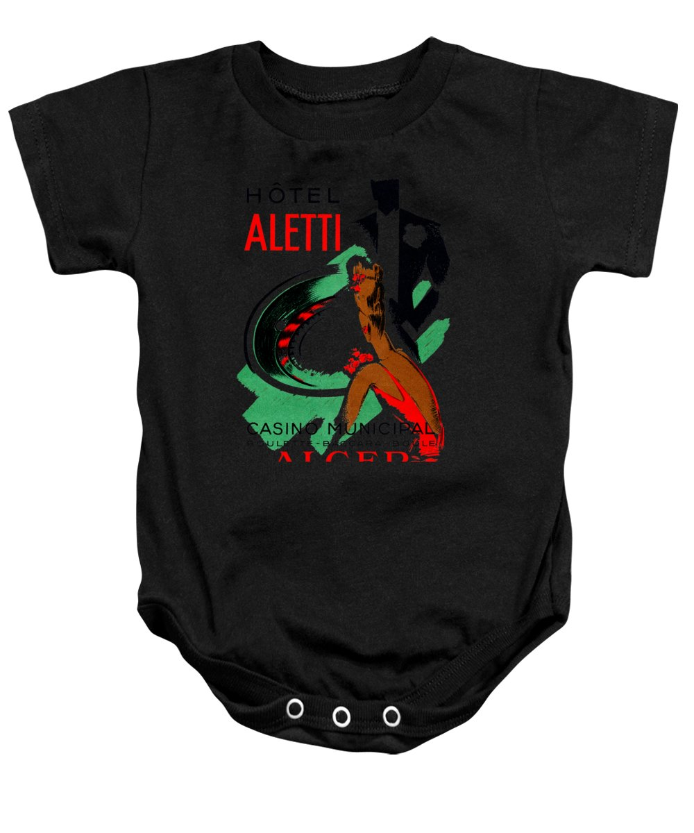 Vintage Baby Onesie featuring the painting 1935 Hotel Aletti Casino Algeria by Historic Image