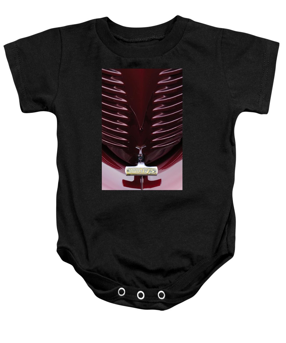 1938 Willys Baby Onesie featuring the photograph 1938 Willys Grille by Jill Reger